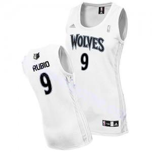 Maillot Swingman Minnesota Timberwolves NBA Home Blanc - #9 Ricky Rubio - Femme