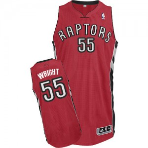 Maillot Authentic Toronto Raptors NBA Road Rouge - #55 Delon Wright - Homme
