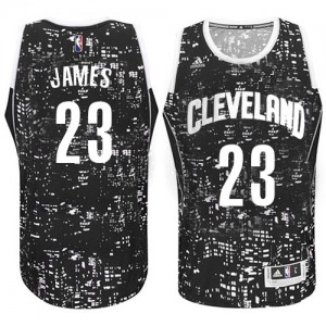 Maillot Authentic Cleveland Cavaliers NBA City Light Noir - #23 LeBron James - Homme