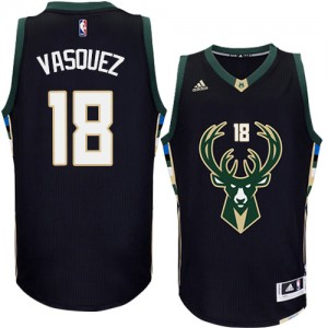 Maillot NBA Authentic Greivis Vasquez #18 Milwaukee Bucks Alternate Noir - Homme
