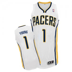 Maillot Authentic Indiana Pacers NBA Home Blanc - #1 Joseph Young - Homme