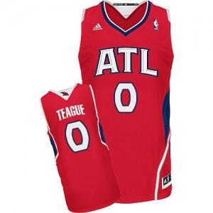Atlanta Hawks #0 Adidas Alternate Rouge Swingman Maillot d'équipe de NBA pas cher en ligne - Jeff Teague pour Homme