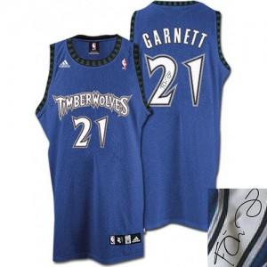 Maillot NBA Authentic Kevin Garnett #21 Minnesota Timberwolves Augotraphed Slate Blue - Homme