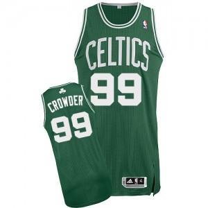 Maillot NBA Authentic Jae Crowder #99 Boston Celtics Road Vert (No Blanc) - Homme