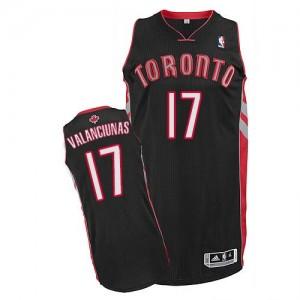 Maillot Adidas Noir Alternate Authentic Toronto Raptors - Jonas Valanciunas #17 - Homme