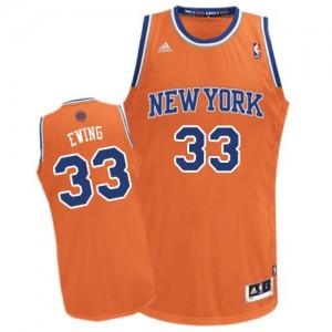 New York Knicks #33 Adidas Alternate Orange Swingman Maillot d'équipe de NBA en ligne - Patrick Ewing pour Homme