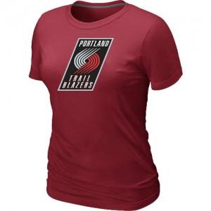 T-Shirts NBA Portland Trail Blazers Rouge Big & Tall - Femme