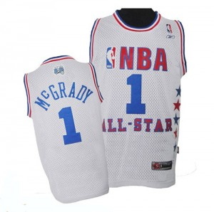 Maillot NBA Blanc Tracy Mcgrady #1 Orlando Magic 2003 All Star Authentic Homme Adidas