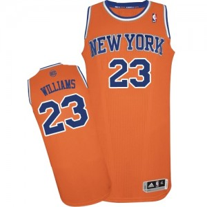 Maillot Adidas Orange Alternate Authentic New York Knicks - Derrick Williams #23 - Homme