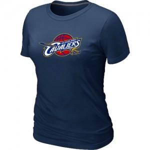 T-shirt principal de logo Cleveland Cavaliers NBA Big & Tall Marine - Femme