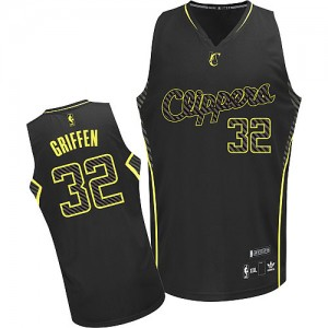 Maillot Authentic Los Angeles Clippers NBA Electricity Fashion Noir - #32 Blake Griffin - Homme
