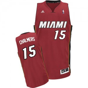 Maillot Adidas Rouge Alternate Swingman Miami Heat - Mario Chalmers #15 - Homme