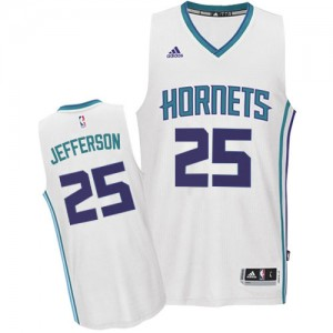 Maillot Adidas Blanc Home Authentic Charlotte Hornets - Al Jefferson #25 - Homme