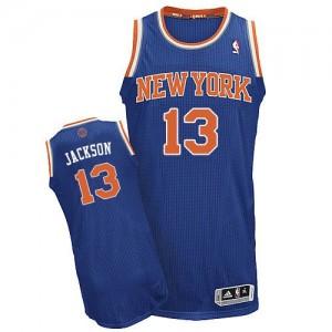 New York Knicks #13 Adidas Road Bleu royal Authentic Maillot d'équipe de NBA vente en ligne - Mark Jackson pour Homme