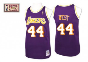 Maillot Authentic Los Angeles Lakers NBA Throwback Violet - #44 Jerry West - Homme