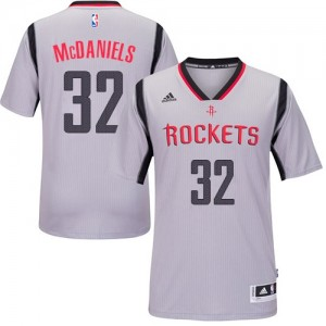 Maillot NBA Authentic KJ McDaniels #32 Houston Rockets Alternate Gris - Homme