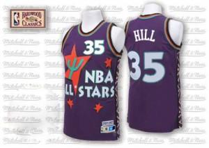 Detroit Pistons #35 Adidas Throwback 1995 All Star Violet Authentic Maillot d'équipe de NBA sortie magasin - Grant Hill pour Homme
