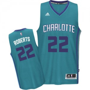Maillot Adidas Bleu clair Road Authentic Charlotte Hornets - Brian Roberts #22 - Homme