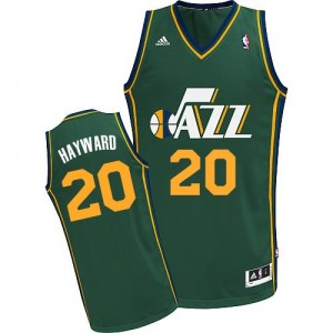 Maillot NBA Utah Jazz #20 Gordon Hayward Vert Adidas Swingman Alternate - Homme