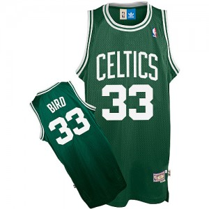 Maillot NBA Vert Larry Bird #33 Boston Celtics Throwback Authentic Enfants Adidas