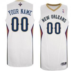 New Orleans Pelicans Authentic Personnalisé Home Maillot d'équipe de NBA - Blanc pour Femme