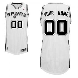 San Antonio Spurs Personnalisé Adidas Home Blanc Maillot d'équipe de NBA Peu co?teux - Authentic pour Enfants