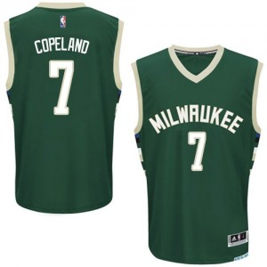 Maillot NBA Authentic Chris Copeland #7 Milwaukee Bucks Road Vert - Homme