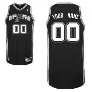 Maillot NBA Noir Authentic Personnalisé San Antonio Spurs Road Homme Adidas