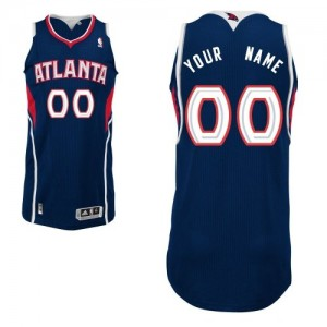 Atlanta Hawks Authentic Personnalisé Road Maillot d'équipe de NBA - Bleu marin pour Homme