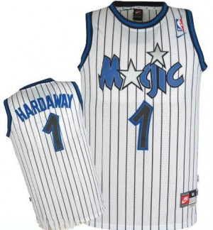 Maillot NBA Orlando Magic #1 Penny Hardaway Blanc Mitchell and Ness Authentic Throwback - Homme