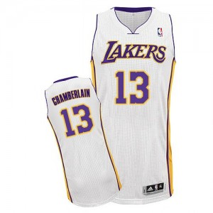 Maillot Adidas Blanc Alternate Authentic Los Angeles Lakers - Wilt Chamberlain #13 - Homme