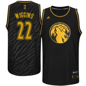 Maillot Swingman Minnesota Timberwolves NBA Precious Metals Fashion Noir - #22 Andrew Wiggins - Homme