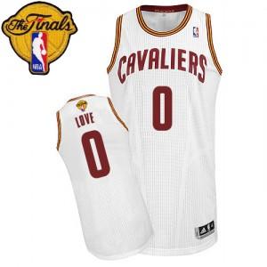 Cleveland Cavaliers Kevin Love #0 Home 2015 The Finals Patch Authentic Maillot d'équipe de NBA - Blanc pour Enfants
