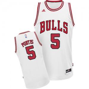 Maillot NBA Chicago Bulls #5 Bobby Portis Blanc Adidas Swingman Home - Homme