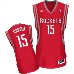 Maillot Swingman Houston Rockets NBA Road Rouge - #15 Clint Capela - Homme