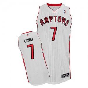 Toronto Raptors Kyle Lowry #7 Home Authentic Maillot d'équipe de NBA - Blanc pour Homme