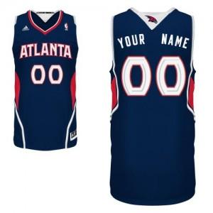 Atlanta Hawks Swingman Personnalisé Road Maillot d'équipe de NBA - Bleu marin pour Homme