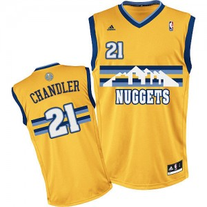 Maillot NBA Denver Nuggets #21 Wilson Chandler Or Adidas Swingman Alternate - Homme