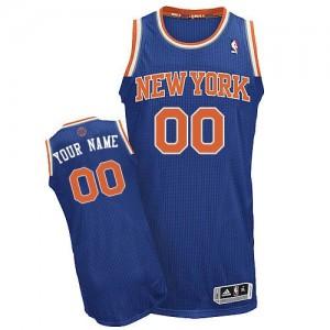 New York Knicks Authentic Personnalisé Road Maillot d'équipe de NBA - Bleu royal pour Homme