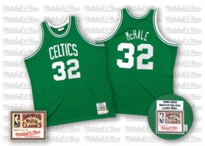 Maillot NBA Boston Celtics #32 Kevin Mchale Vert Mitchell and Ness Authentic Throwback - Homme