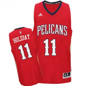 Maillot Adidas Rouge Alternate Swingman New Orleans Pelicans - Jrue Holiday #11 - Homme