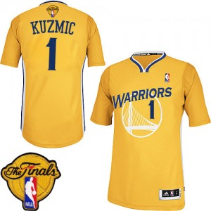Maillot Adidas Or Alternate 2015 The Finals Patch Authentic Golden State Warriors - Ognjen Kuzmic #1 - Homme