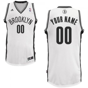 Maillot NBA Swingman Personnalisé Brooklyn Nets Home Blanc - Homme