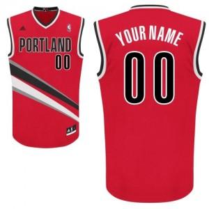 Maillot NBA Rouge Swingman Personnalisé Portland Trail Blazers Alternate Enfants Adidas