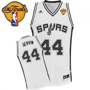 Maillot Swingman San Antonio Spurs NBA Home Finals Patch Blanc - #44 George Gervin - Homme