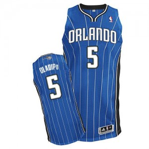 Maillot Adidas Bleu royal Road Authentic Orlando Magic - Victor Oladipo #5 - Homme