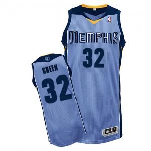 Memphis Grizzlies Jeff Green #32 Alternate Authentic Maillot d'équipe de NBA - Bleu clair pour Homme