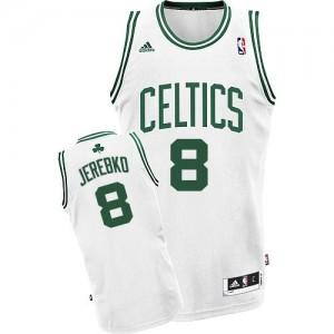 Maillot NBA Boston Celtics #8 Jonas Jerebko Blanc Adidas Swingman Home - Homme