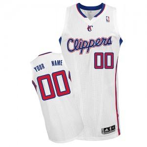 Los Angeles Clippers Personnalisé Adidas Home Blanc Maillot d'équipe de NBA Discount - Authentic pour Enfants