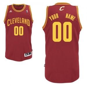 Maillot NBA Cleveland Cavaliers Personnalisé Swingman Vin Rouge Adidas Road - Enfants